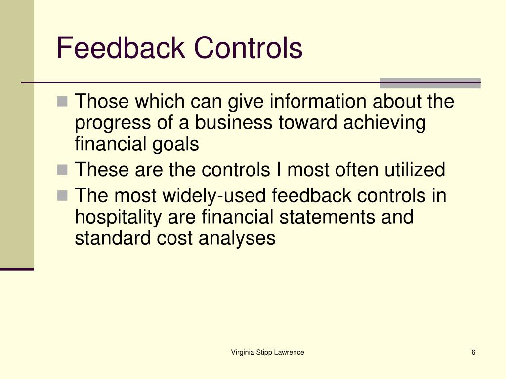Feedback Controls