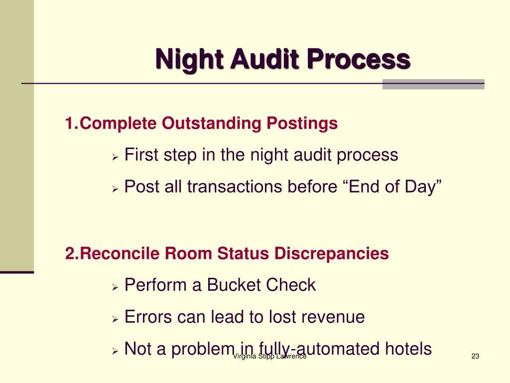Night Audit Process