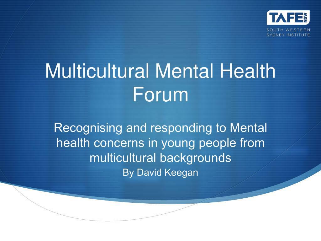 multicultural mental health forum l.