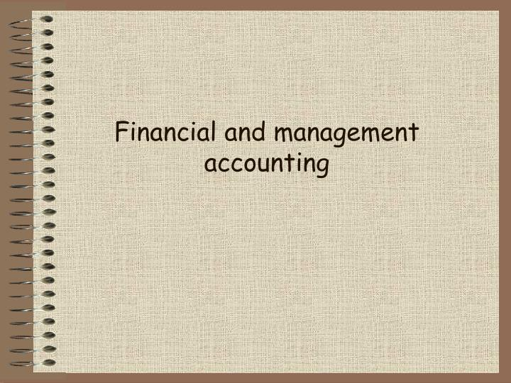 financial and management accounting n.