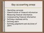key accounting areas