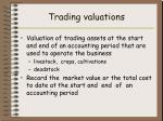 trading valuations