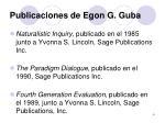 publicaciones de egon g guba