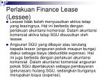 perlakuan finance lease lessee