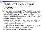 perlakuan finance lease lessor