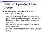 perlakuan operating lease lessee