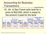 accounting for business transactions17