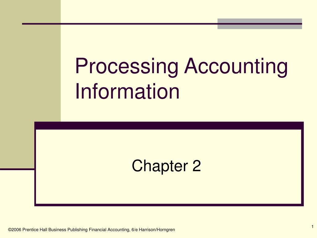 Processing Accounting