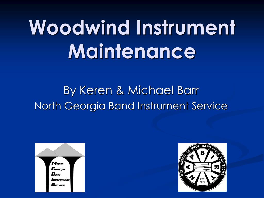 woodwind instrument maintenance l.