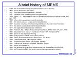 a brief history of mems