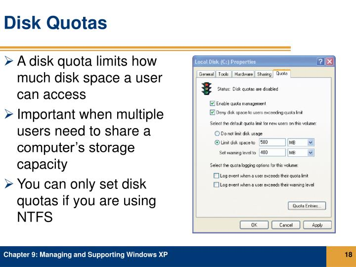 Disk Quotas