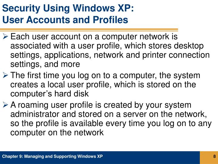 Security Using Windows XP: