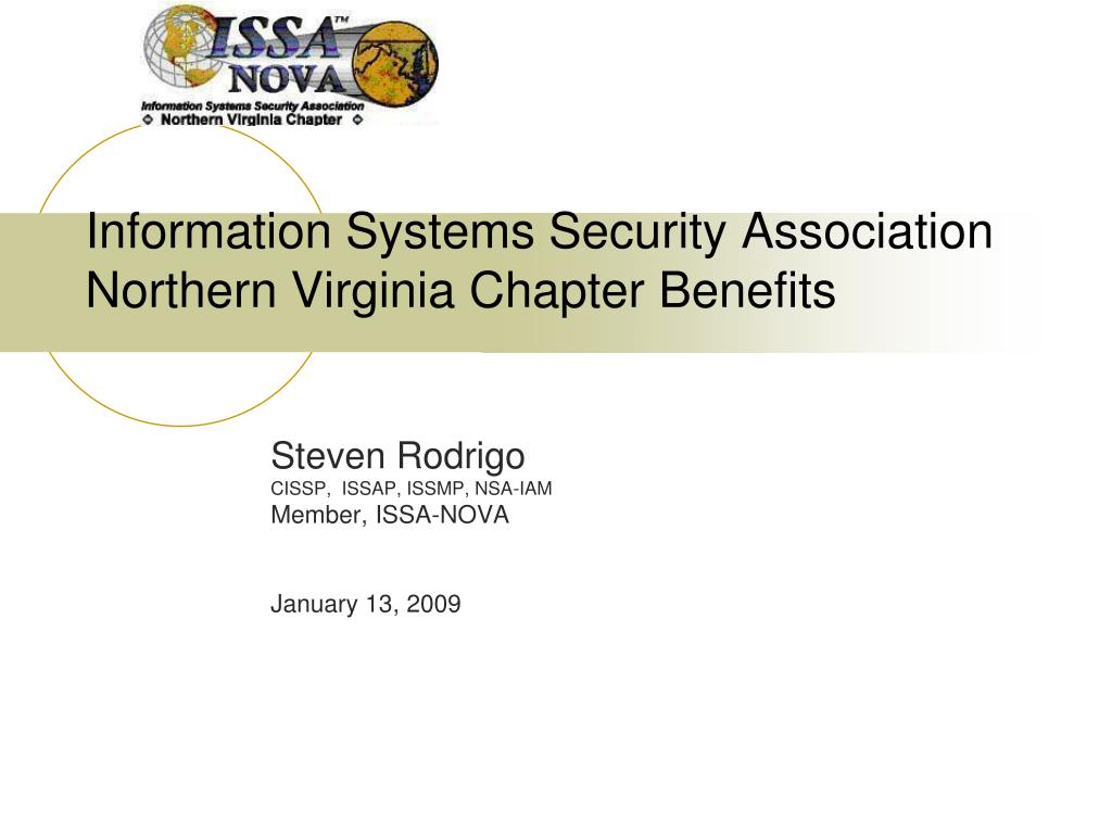information systems security association northern virginia chapter benefits l.