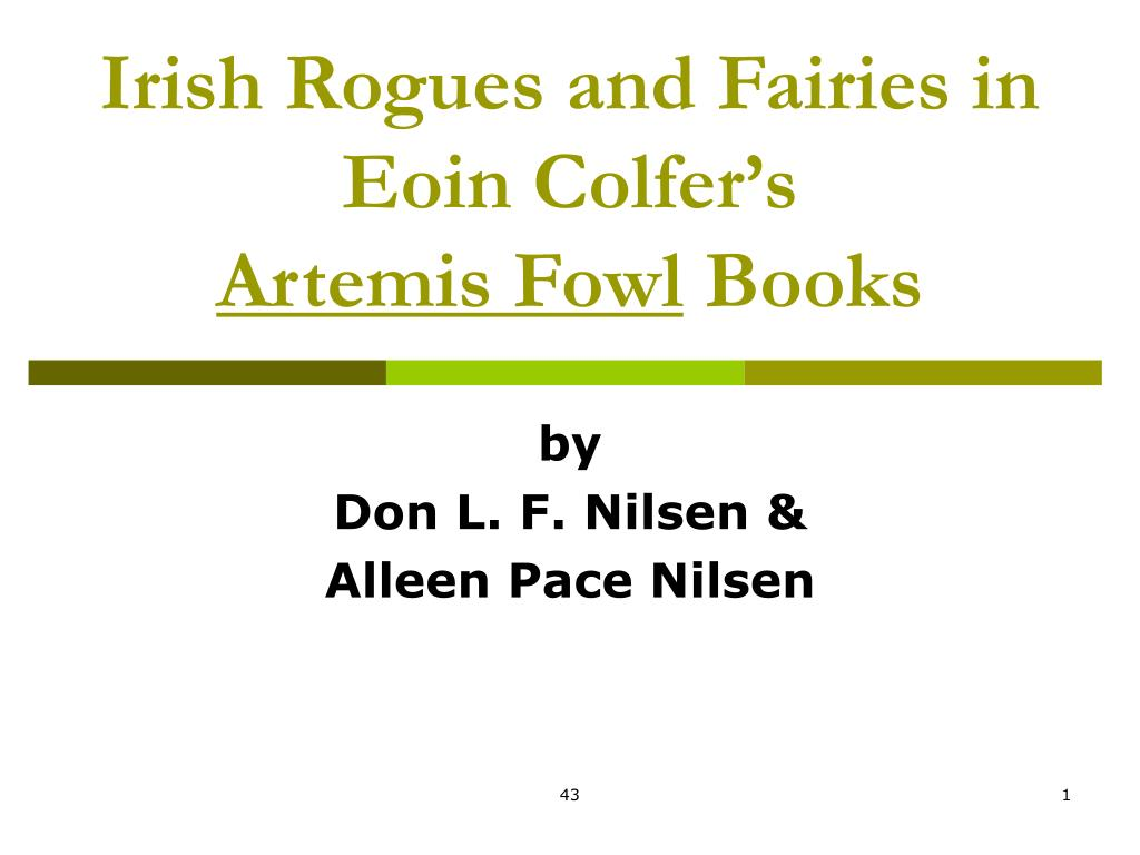 irish rogues and fairies in eoin colfer s artemis fowl books l.
