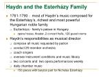 haydn and the esterh zy family