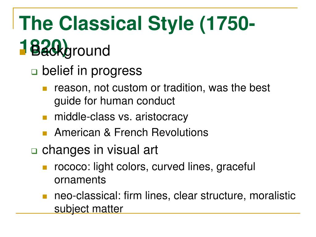 the classical style 1750 1820 l.