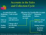 accounts in the sales and collection cycle4