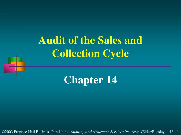audit of the sales and collection cycle n.