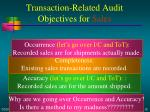 transaction related audit objectives for sales