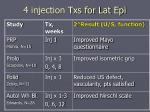 4 injection txs for lat epi1