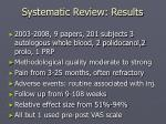 systematic review results