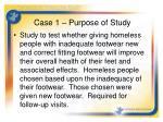 case 1 purpose of study