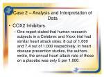 case 2 analysis and interpretation of data
