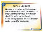 clinical equipoise