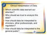 ethical interpretation of data