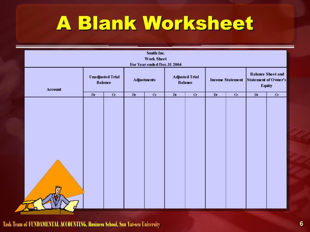 A Blank Worksheet
