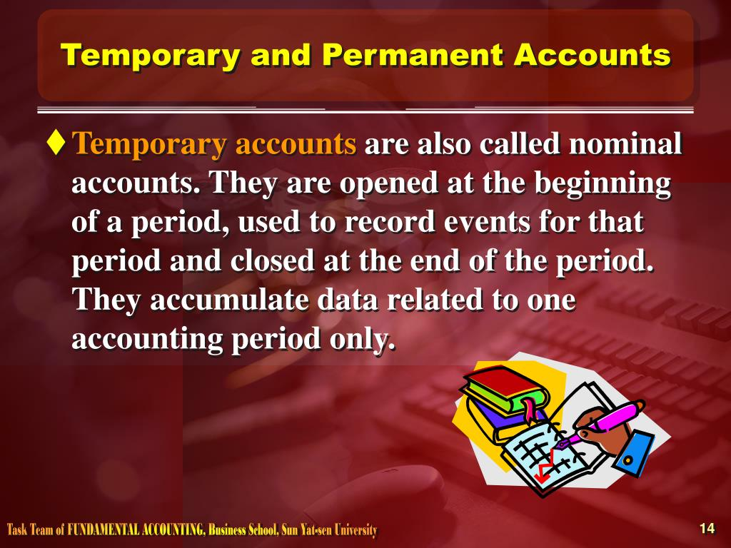 Temporary and Permanent Accounts