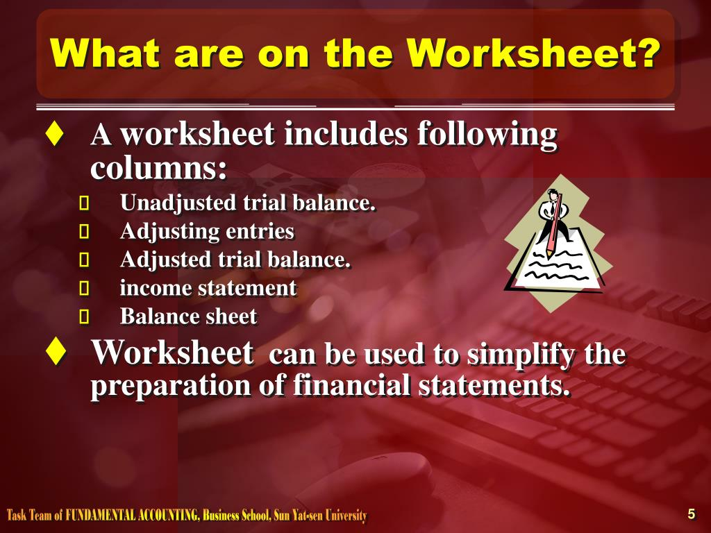 What are on the Worksheet?
