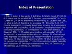 index of presentation