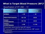 what is target blood pressure bp