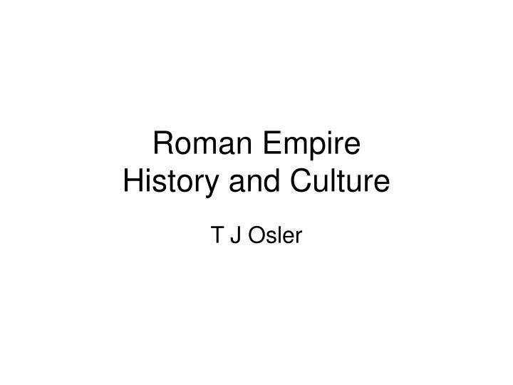 roman empire history and culture n.