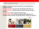 other financial tools