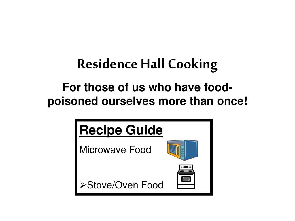 residence hall cooking l.