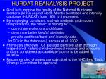 hurdat reanalysis project