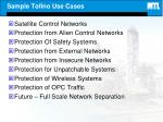 sample tofino use cases