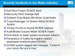 security incidents in the water industry