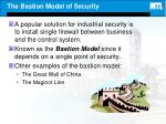 the bastion model of security