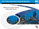 the tofino security industrial solution