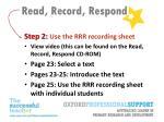 read record respond11