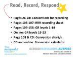 read record respond12
