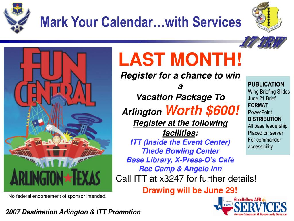 Mark Your Calendar…with Services