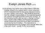 evelyn jones rich cont d