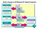 built in groups on all windows nt based computers