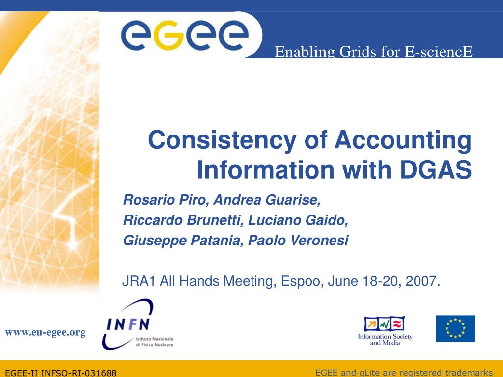 consistency of accounting information with dgas l.