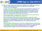 lrms logs vs site hlr 1