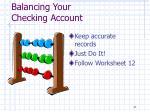 balancing your checking account